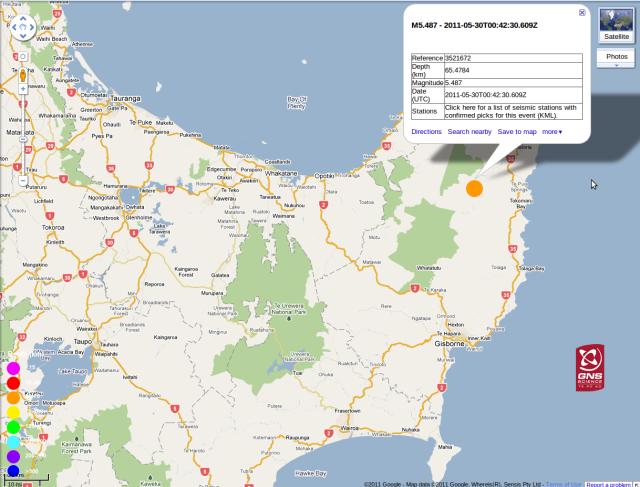 geonet.org.nz/earthquake/ 300511 magnitude 5.5 Ruatoria