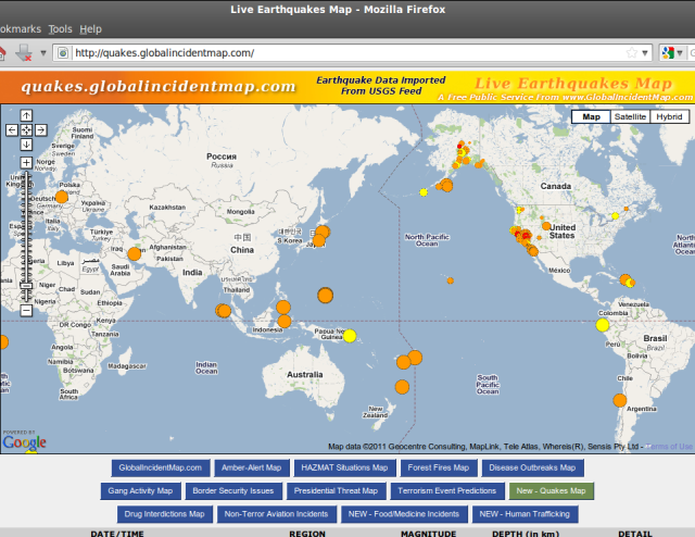 quakes.globalincidentmap.com 11-13May2011
