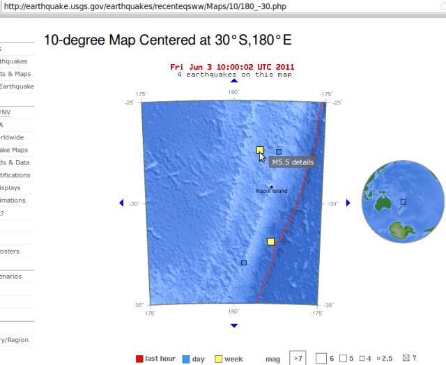 030611 USGS Kermadecs quake cluster magnitude 5.5