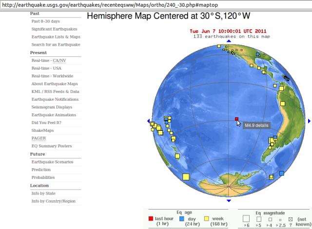 Easter Island magnitude 4.9 link? - USGS 070611