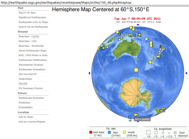 Southern Mid-Atlantic Ridge 5.3 USGS 070611
