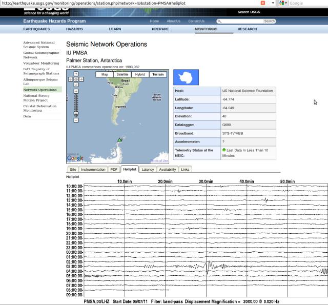 Peru 6.0 Palmer Station USGS 080611