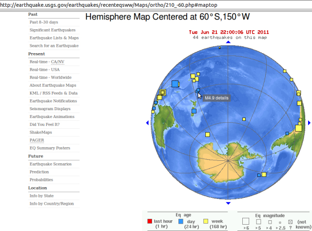 Kermadecs magnitude 4.9 quake amongst South Pacific quake group - USGS 210611