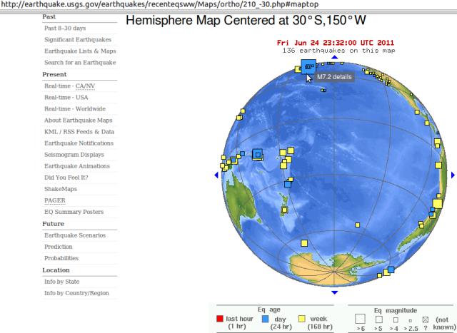 Alaska mag' 7.2 - USGS 250611
