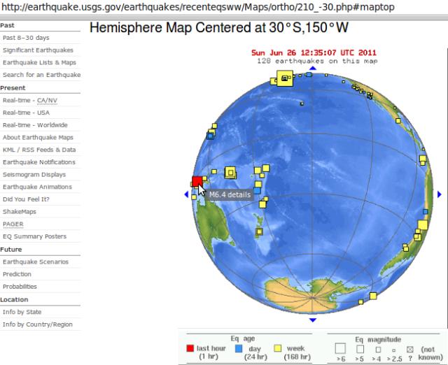 Papua magnitude 6.4 - USGS 270611