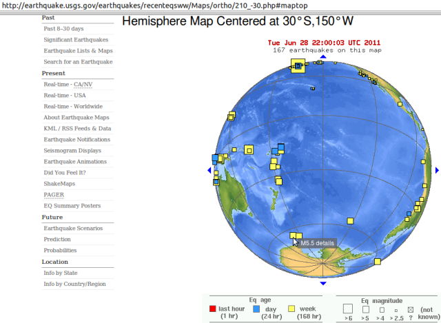 Balleny Islands mag' 5.4 - USGS 280611