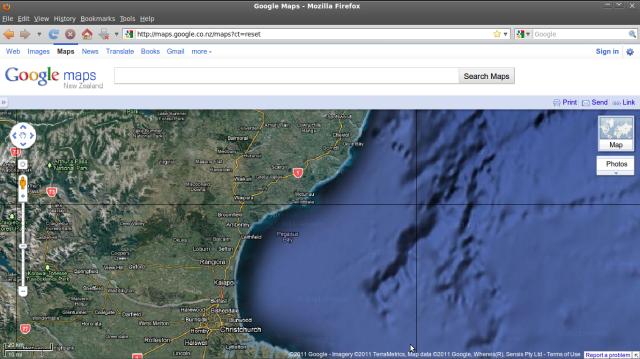 Pegasus Bay - Googlemap