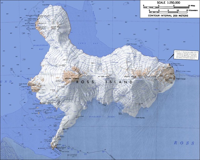 Ross Island Map - Wikipedia Mount Erebus
