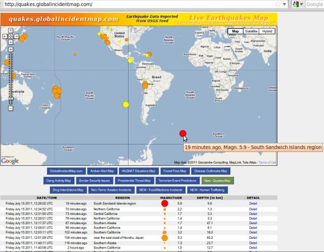 South Sandwich Island magnitude 5.9 quake - GIM 160711