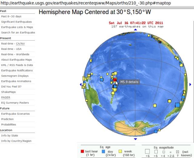 Tonga magnitude 5.9 quake - USGS 160711