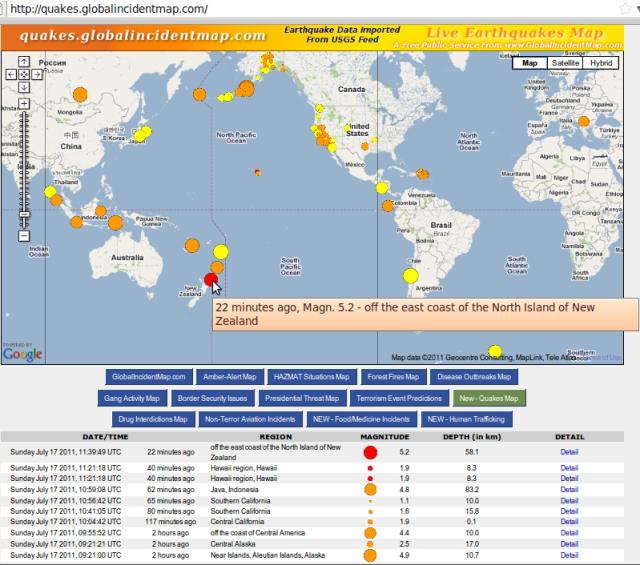 magnitude 5.2 quake off North Island NZ - GIM 170711b