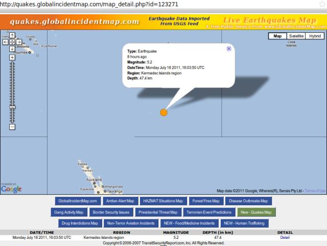 Kermadec magnitude 5.2 quake - GIM 180711