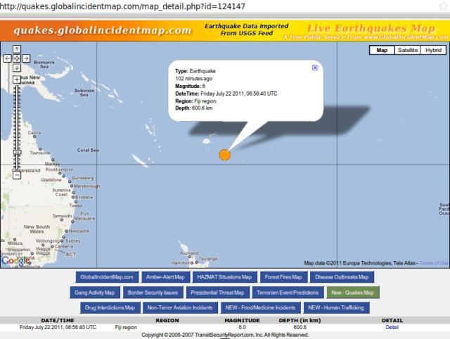 Fiji magnitude 6.0 quake - GIM 220711a