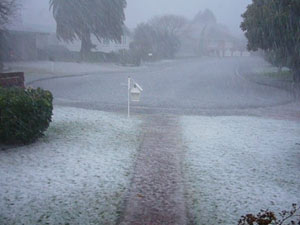 Wellington region hail - TV1 090711