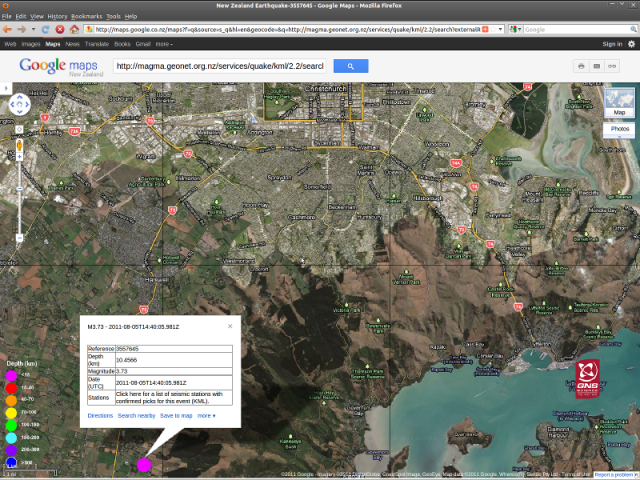 Tai Tapu magnitude 3.7 quake - GNS 060811
