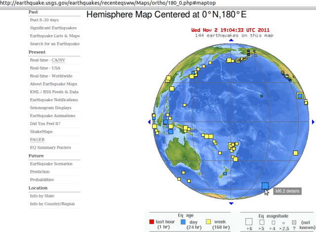 Pacific-Antarctic Ridge mag 6.2 quake - USGS 031111