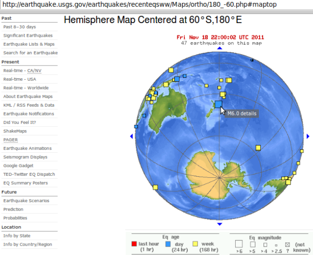 NZ mag 6.1 quake, Antarctic view - USGS 191111