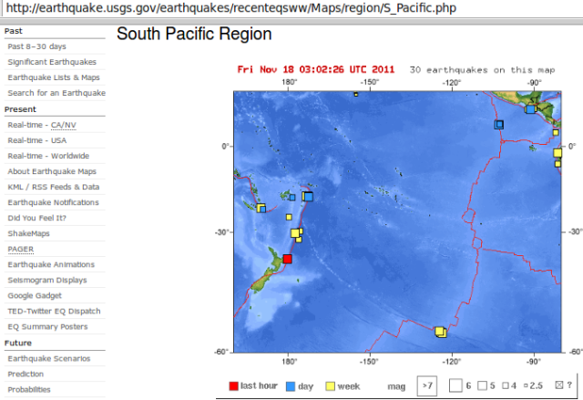 NZ mag 6.1 quake, south Pacific plate view - USGS 191111