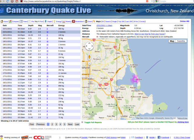 Southshore mag 3.5 quake - Crowe.co.nz 221111