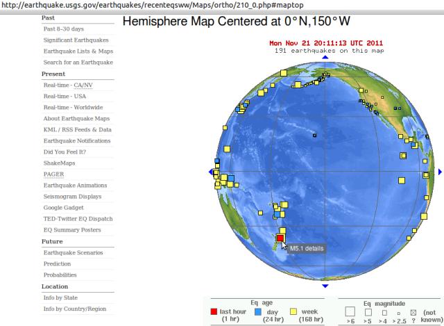 NZ mag 5.1 offshore quake - USGS 221111