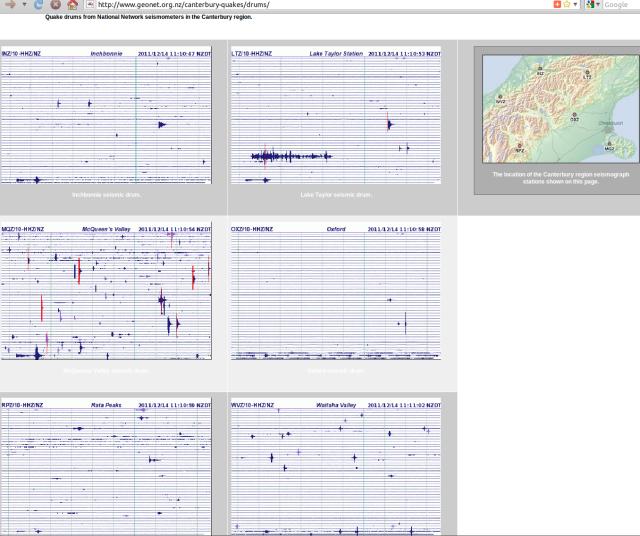 Kermadecs mag 4.7 quake on Canterbury seismometer drums - GNS 141211