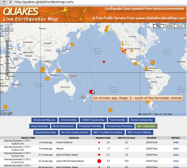 Kermadecs mag 5.0 quake - GIM 171211