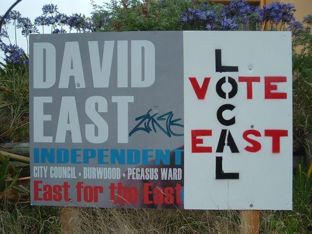 David East billboard, Feb 2012