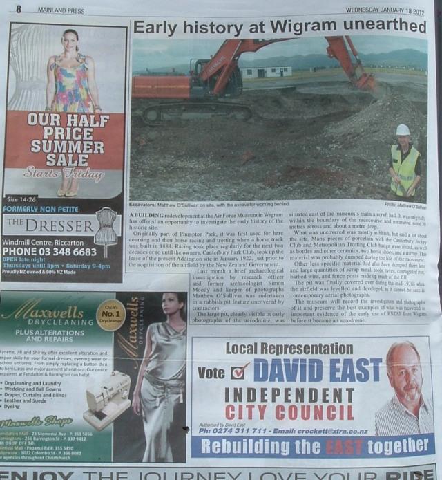 David East advertisement, January 2012