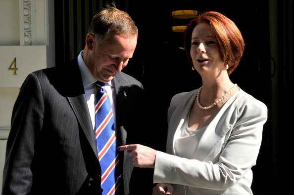 New Zealand PM John Key visits Australia