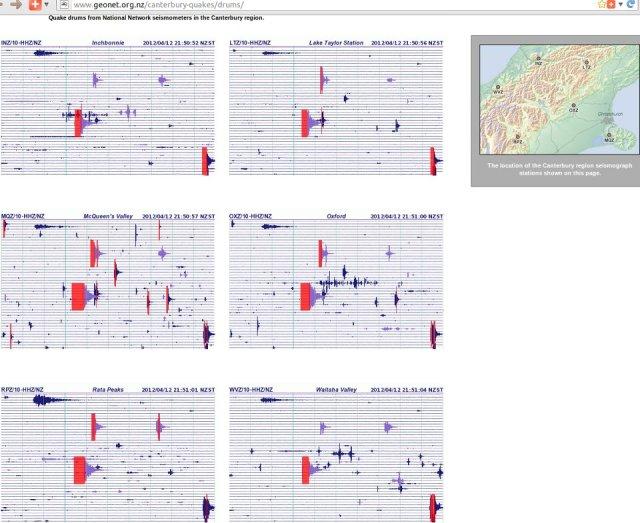 Pegasus Bay magnitude 4.6 aftershock - GNS 120412
