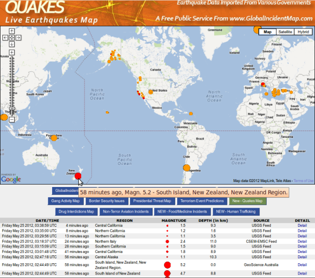 Pegasus Bay mag 5.2 quake context - GIM 250512