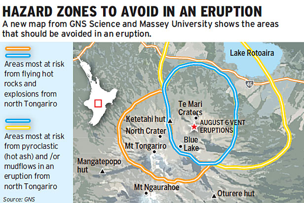 Tongariro hazard zone - Stuff 130812