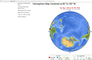 Antarctic circle of earthquake effects - USGS 2012-08-08