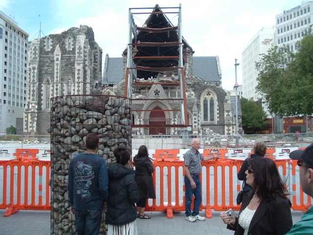 Chch Cathedral and Cairn 2012