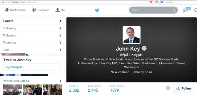 John Key Twitter count 2014-04-14