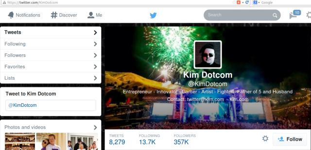 Kim Dotcom Twitter count 2014-04-14