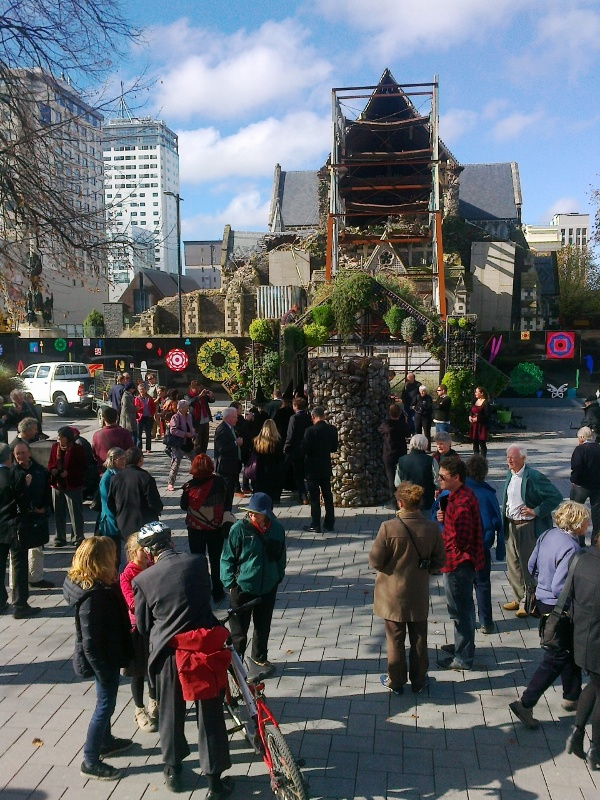 Social-fascist rally, Christchurch Cathedral Square, 1 May 2014