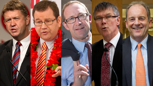 David Cunliffe, Grant Robertson, Andrew Little, David Parker and David Shearer contest for Labour leadership, 2014 - Newspix/NZ Herald