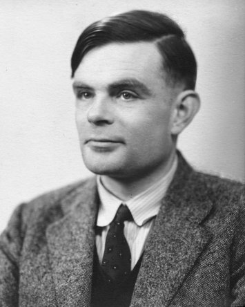 Alan Turing photo Licensed under Fair use via Wikipedia