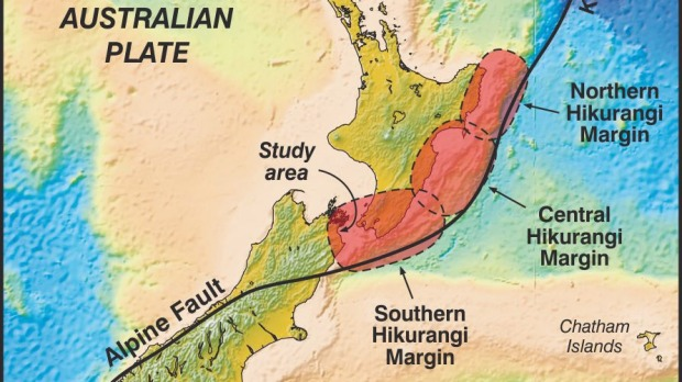 "Stuff graphic - ""Megaquake could hit central New Zealand"" - 19 May 2015"