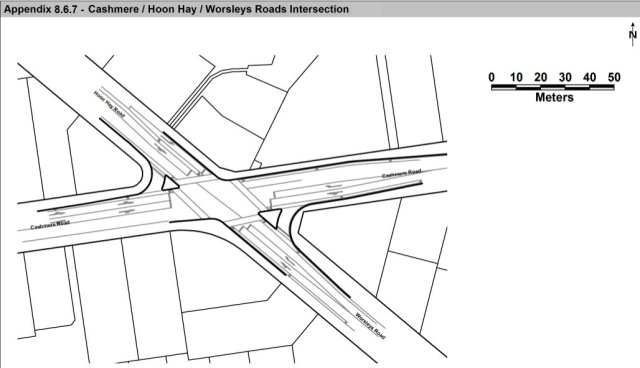 Cashmere HoonHay Worsleys Road Intersection upgrade
