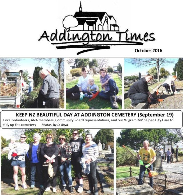Addington Times October 2016 p1