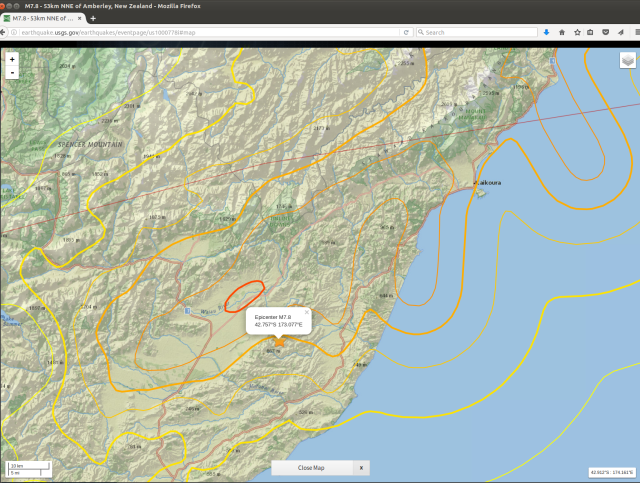 USGS 141116 mag-7.8 shakemap - Waiau