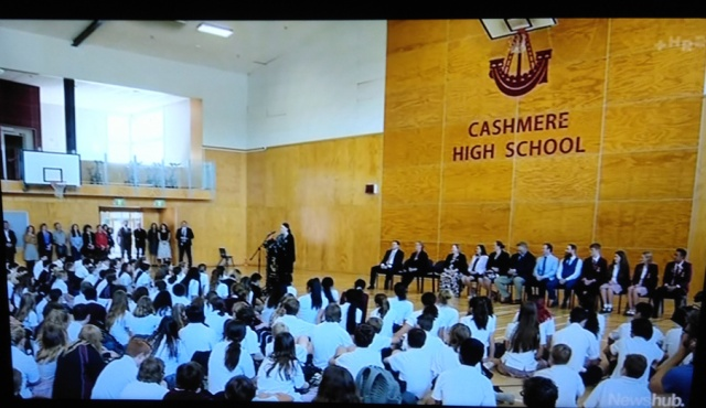 NZ PM Adern at Cashmere High School 20 March 2019